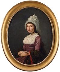portrait de jeune fille au bonnet de dentelle by anicet charles gabriel lemonnier
