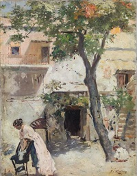 in the courtyard by raffaele ragione