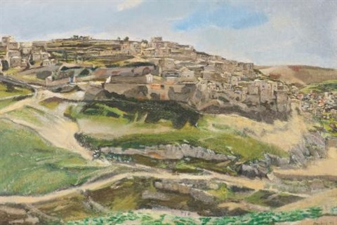 siloam jerusalem by david bomberg