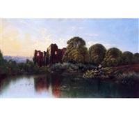 landscape with ruined abbey by edwin henry boddington