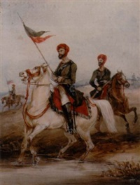 a sowar, full dress, nizam's 3rd cavalry by henry martens