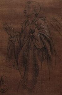 a kneeling youth by lazzaro tavarone