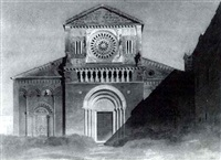 a romanesque church in in italy by gabriel auguste ancelet