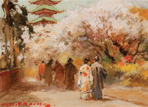 walking to the pagoda by gerard adolfs