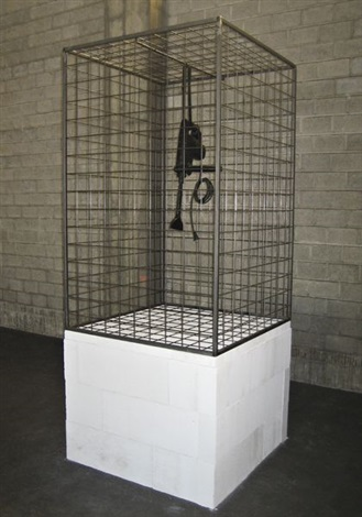 caged tool no 2 stone saw by monica bonvicini