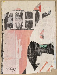 sans titre by mimmo rotella