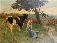 the milkmaid suitor by randolph caldecott