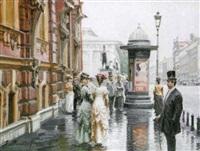 avenue nevsky à saint-petersbourg by dmitri mikhailov