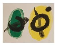 amarillo y verde by joan miró