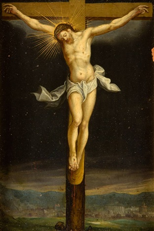 cristo crucificado by flemish school 16