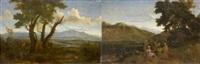 enée et tiberinus (+ romulus et rémus découverts par le berger faustulus, lrgr; pair) by abraham genoels