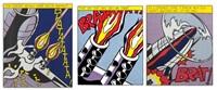 as like open fire (triptych) by roy lichtenstein