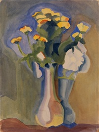 flowers in a vase by maria vladimirovna ender