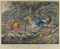 die par force jagd (+ der zug von der jagd; pair) by johann lorenz rugendas the younger