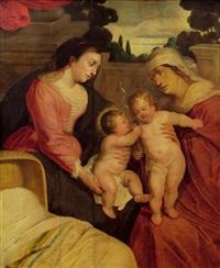 maria und elisabeth mit dem christusknaben und johannes by marten pepyn