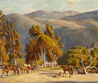 muriel vanderbilt horses, carmel valley by howard everett smith