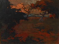 dusk at cypress grove by xavier martinez