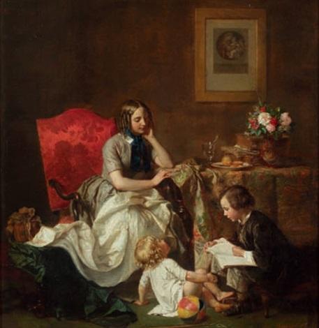 mère et enfants by jean baptiste antoine emile beranger