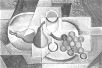 glass, grapes and pears by albert fiks