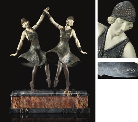 ballets russes figural group by demetre chiparus