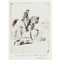 soldato a cavallo by sebastiano de albertis