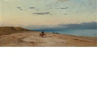 cart on the beach by samuel colman