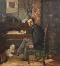 portrait de huysmans by adolphe ernest gumery