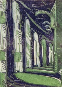the cloister ii (3 works) by ursula fookes