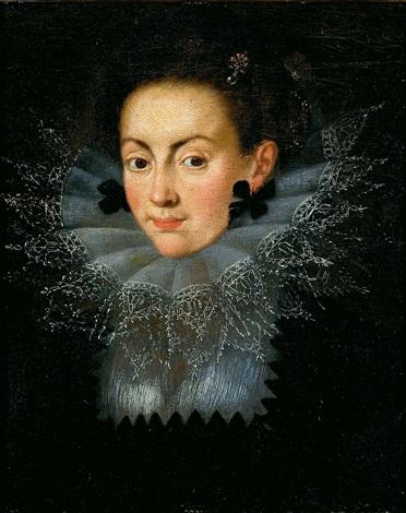 retrato de isabel de borbón esposa de felipe v by bartolomé gonzalez