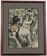 bal & dancings, les années folles à paris (9 works) by jean auscher