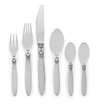 a flatware service no. 30, cactus pattern (set of 82) by gundorph albertus