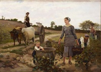 vendangeurs by edouard bernard debat-ponsan