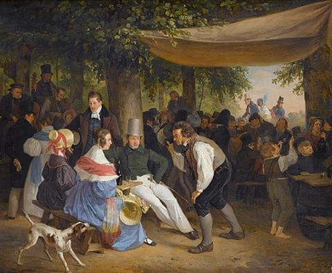 sunday afternoon in the park by hendrick joseph dillens