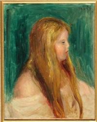 jeune fille aux longs cheveux by pierre-auguste renoir