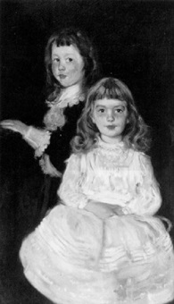 portrait of twins roger and anna griswold fletcher by joseph lindon smith