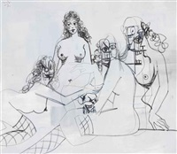 rodrigo with female by george condo