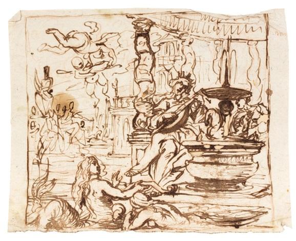 le couronnement dépines 2 studies for un chemin de croix 3 works by cornelis schut the elder