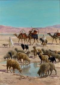 le troupeau dans l'oued by albert gabriel rigolot