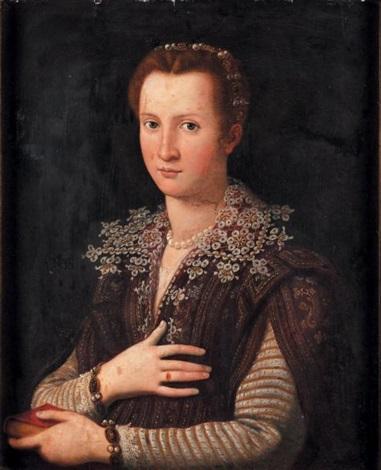 portrait de leonora de médicis 1553 1576 by alessandro di cristofano allori