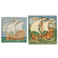 ship tiles (2 works) by grueby