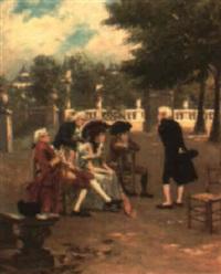 escena galante by cristobal de antonio