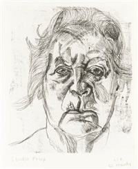 the painter's mother (h. 20) by lucian freud