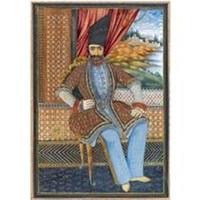a portrait of nasr al-din shah qatar by javan bakht qajar