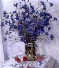 vase de bleuets by mochkin