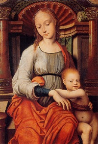 virgin and child by master of the mansi magdalene