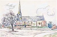 brinon-sur-sauldre, 1er decembre by paul signac