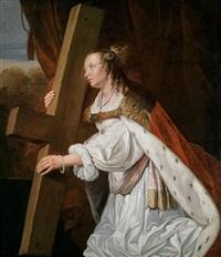 die heilige helena trägt das wahre kreuz christi by jan de bray