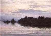 le soir sur la volga by alexandre goloviznine