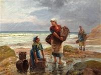 three fisherwomen by emile godchaux