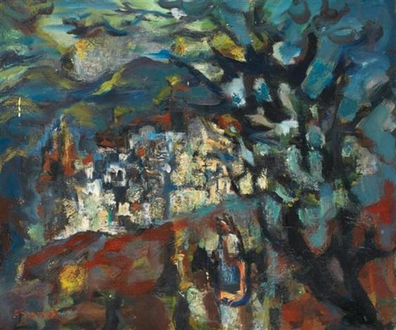 paysage by yitzhak frenkel frenel